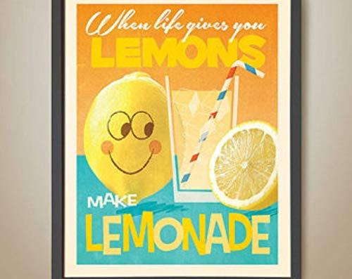 Cuando la vida te da limones, haz limonada. Anima la felicidad. Limonada. Cristal medio lleno. Actitud positiva. Resiliencia.