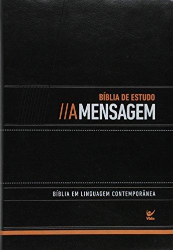 BIBLIA DE ESTUDO A MENSAGEM CP LUXO PRETO