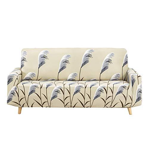 WONGS BEDDING Sofá Funda Antideslizante Tejido elástico Protector de sofá Impreso de láminas de 3 plazas Poliéster Suave con Fondo elástico (Lámina, 185 cm a 230 cm)