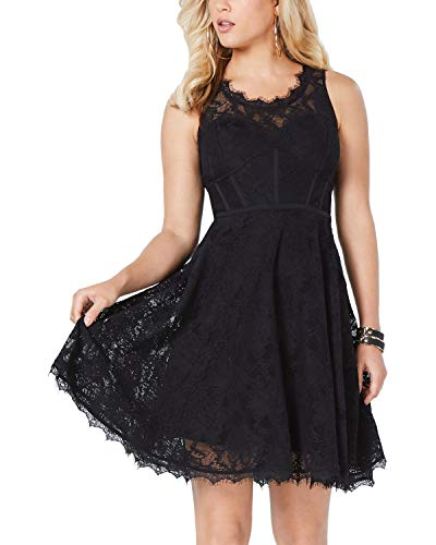 Guess | Shaira Lace Fit & Flare Dress | Jet Black