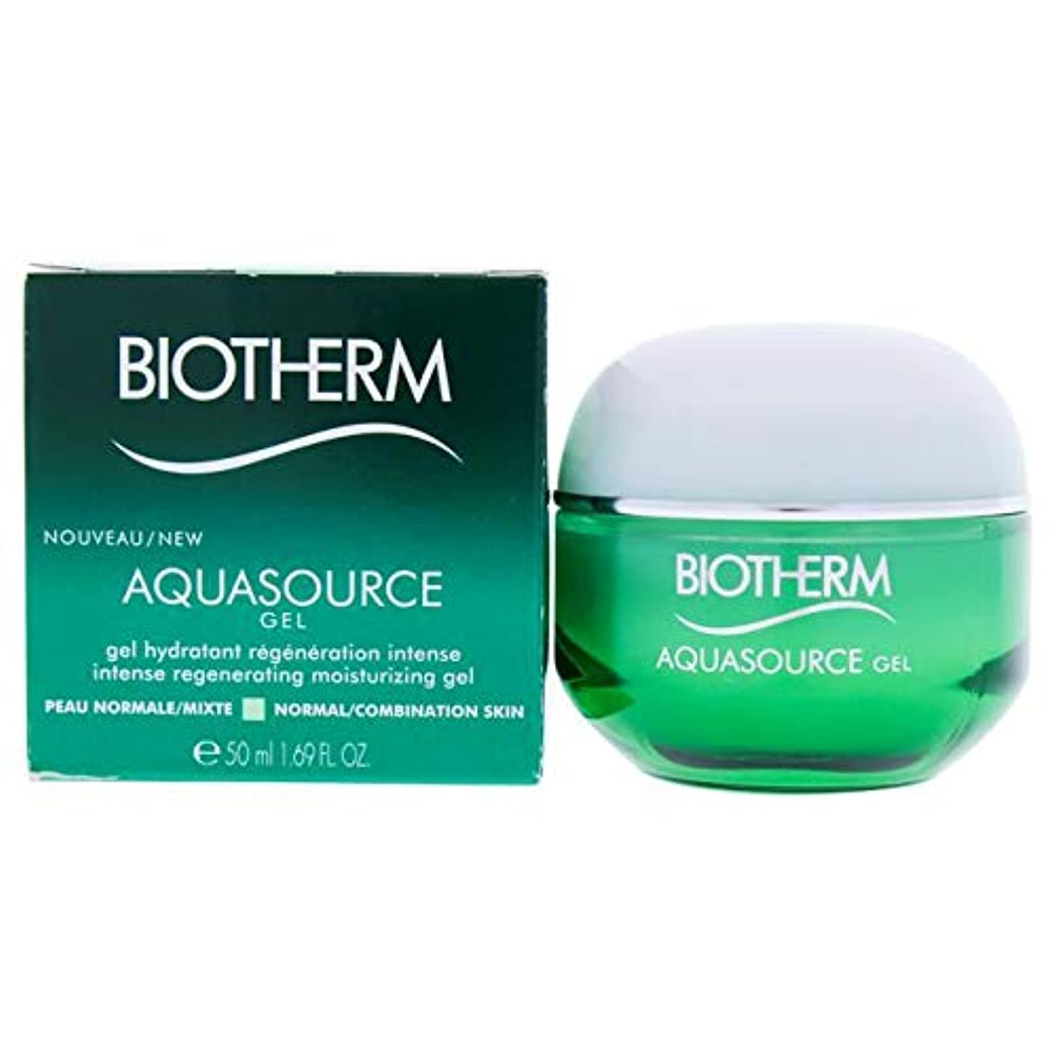 買い手リンケージ再編成するビオテルム Aquasource Gel Intense Regenerating Moisturizing Gel - For Normal/Combination Skin 50ml/1.69oz並行輸入品