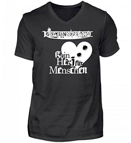 KIRCHENBRAND - Kein Herz für Menschen | Gegenkultur Black Metal Germania Austria Germany - Herren V-Neck Shirt