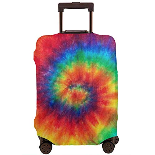 Tie Dye RainbowPrinted Travel Luggage Cover,Elastic Suitcase Cover Luggage Protector Fits 18-32 Inch Suitcase