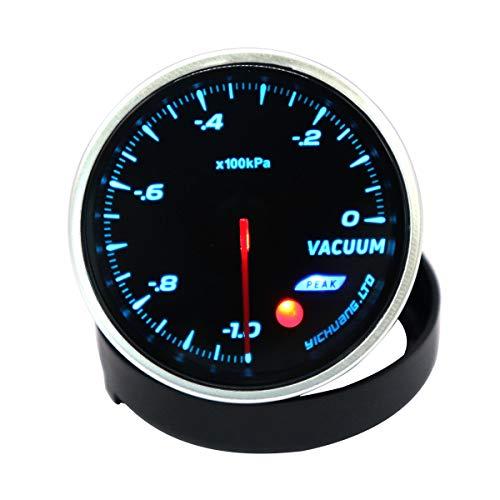 VOSAREA Jauge réglable de Vide 100KPa d'instrument de Voiture modifié 12V 64 de Contre-Jour de Couleur 64