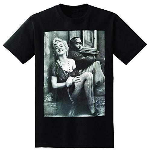 Camiseta Divertida Tupac Marilyn Monroe Pareja Camisetas Hiphop Legend