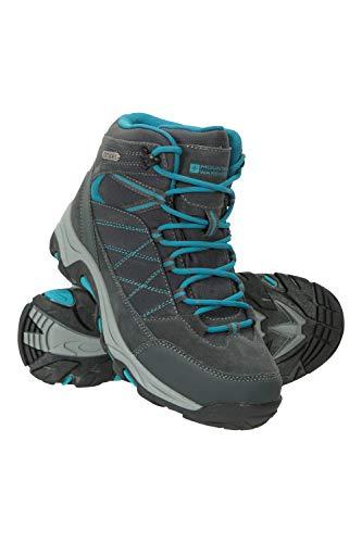 Mountain Warehouse Rapid Wasserfeste Stiefel für Damen - Wanderschuhe aus Wildleder und Netzstoff, Schuhe, Wanderstiefel mit Gummilaufsohle - Für Reisen, Camping Grau 39 EU