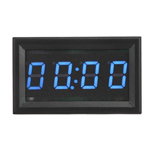 EBTOOLS Digitale Auto-Uhr, 4.5-30V Multifunktions-LED-elektronische Digital-leuchtende Auto-Uhr-zusätzliche Dekoration für Auto-LKW-Boote(BLAU)