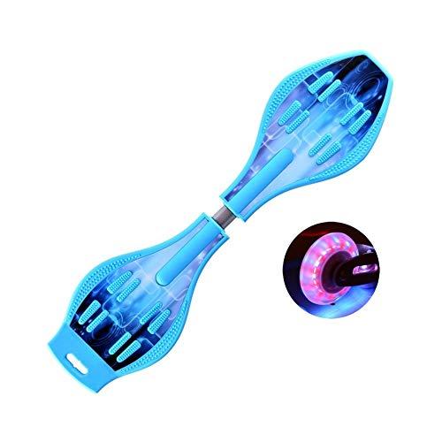 ZEL Caster Junta Monopatín waveboard Juguete al Aire Libre aumentó la versión Durable de la Rueda Luminosa Principiante Regalo (Negro/Rojo/Azul) 9.18 (Color : Phantom Blue)