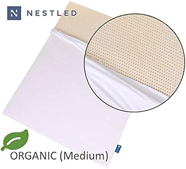 Organic 100 Natural Latex Mattress Topper Medium Firmness 2 Inch King Size Organic Cotton Cover Included GOLS GOTS Certified