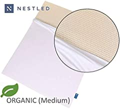 Organic 100% Natural Latex Mattress Topper - Medium Firmness - 3 Inch - King Size - Organic Cotton Cover Included - GOLS & GOTS Certified.