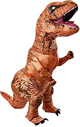 1. Rubie's Adult Official Jurassic World Inflatable Dinosaur Costume