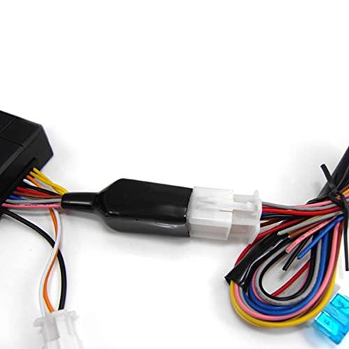 Haowen Sistema de Alarma de Motocicleta M801-8118 para 12V DC con Alarma de Arranque de Motor Colorida