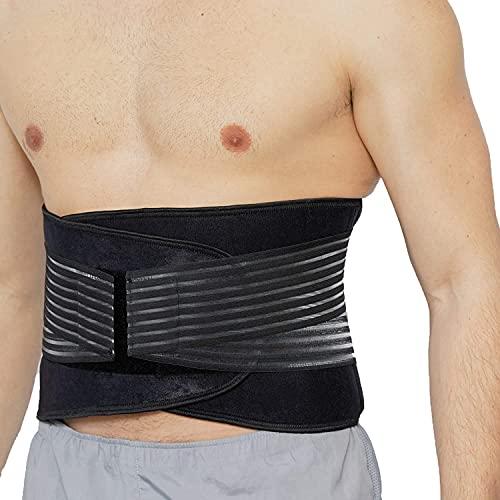 DOBO Soporte lumbar con varillas, banda elástica para fitness