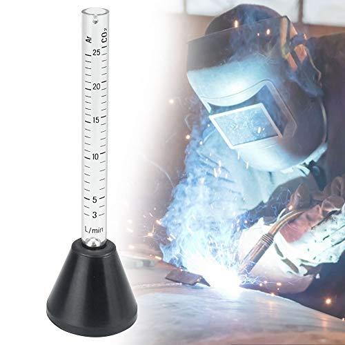 PERFETSELL Gasdurchflussmesser Argon/Co2 Gas Durchflussmesser Luftdurchflussmesser Flowmeter für CO2 Argon 14 Cm Länge Durchflussmesser Plastik Gas Messen Gastester Messgerät für Mig Tig Schweißer