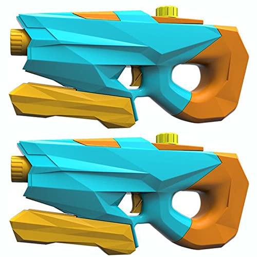 KUMADAI Pistolas de Agua para Niños 2 Pack Pistola Agua Juguete 1200ML Alta Capacidad Pistola Agua Juegos Agua Largo Alcance 7-8M Juguete de Agua para Verano Juguetes de Agua Juego