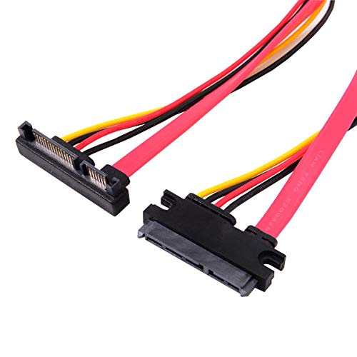 Cablecc Up afgeschuind SATA III 3.0 7 + 15 22 Pin SATA stekker naar bus Data Power verlengkabel 30cm