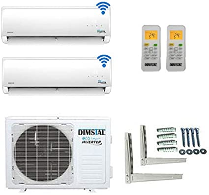 A++//A+ DuoSplit WiFi//WLAN Golden-Fin 12000+12000 BTU MultiSplit Klimaanlage INVERTER Klimager/ät und Heizung