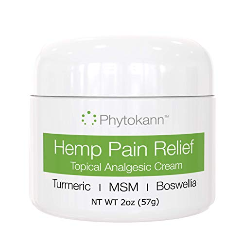 Hemp Pain Relief Cream - Maximum Relief for Arthritis Pain, Back Pain, Inflammation, and Muscle Soreness. Made in USA with Hemp Oil & Hemp Extract, Turmeric, MSM, and Boswellia - 100% Natural