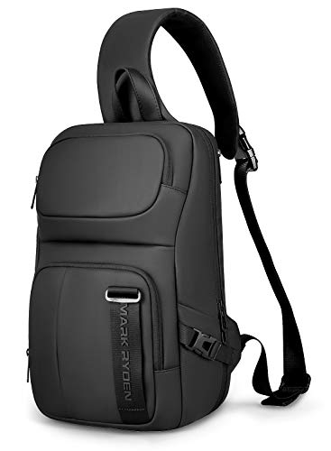 MARK RYDEN Schultertasche Diebstahlsichere Umhängetasche für Herren Brusttasche Leichte Reiseschultertasche für 13-Zoll-Laptops
