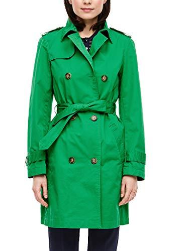 s.Oliver RED Label Damen Trenchcoat im klassischen Style Green 46