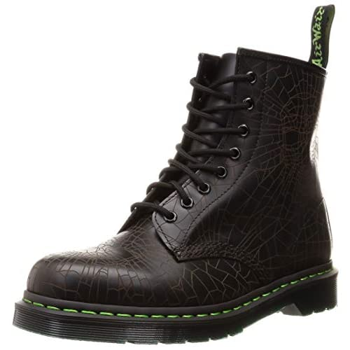 Dr.Martens Womens Aimilita 9-Eyelet Fur Lined Black Leather Boots 36 EU