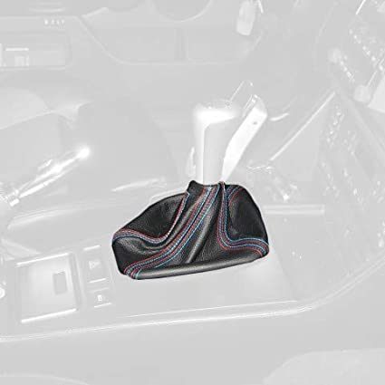 Medium Gray Leather-Black Thread RedlineGoods Shift Boot Compatible with BMW 5-Series E34 1988-95