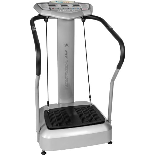 "MOVIT Vibrationsplatte \""Vitality Fit Vibration 2.0\"" Vibraplate mit BMI Messung inkl. 2 Fitnessbänder für effektives Ganzkörpertraining, Vibrationstrainer mit 4 Programmen"