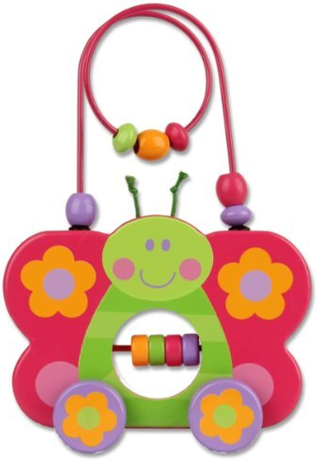 Stephen Joseph Butterfly Rolling Wire and Bead Toy by Stephen Joseph