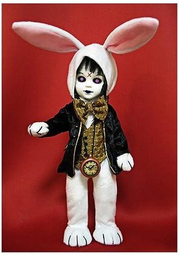 Mezco Toyz Living Dead Dolls Alice In Wonderland Figure Eggzorcist as The Weiß Rabbit