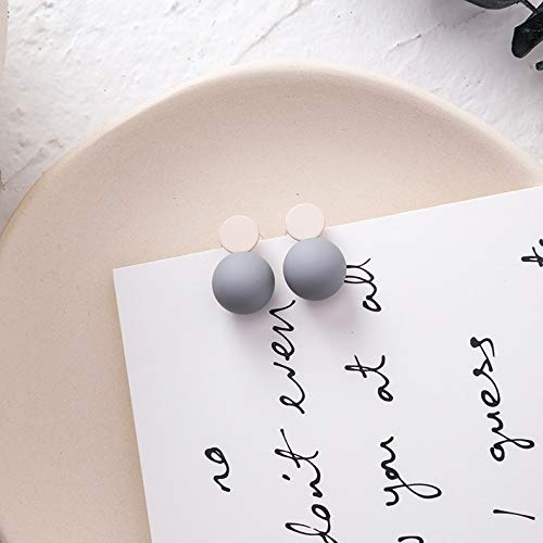 Earring Fashion Hollow Square Pentagram Round Earrings Simple Mixed Colors Ball Earrings Women Jewelry Earrings (Metal Color : 2, Size : Normal)
