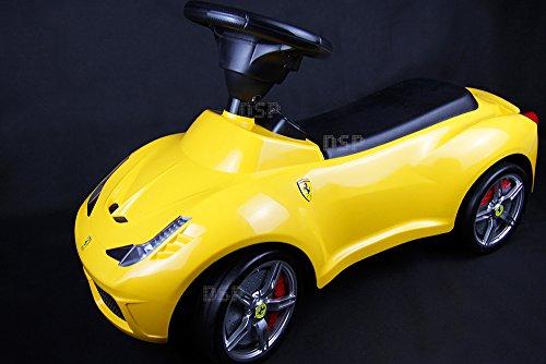NCC®DSP Ferrari 458 Bobbycar Lauflernhilfe Rutschauto Lizenz-Auto Kinderfahrzeug Rutscher