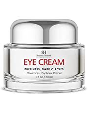 Botanic Hearth Under Eye Cream for Dark Circles and Puffiness Ð with Ceramides, Peptides & Retinol Reduce Dark Circles, Puffiness, Under Eye Bags, Wrinkles & Fine Lines - for Men & Women - 1 fl oz