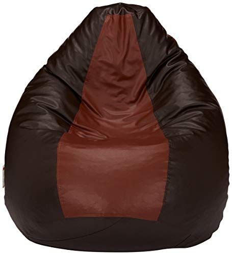 Amazon Brand - Solimo XXL Bean Bag Cover Without Beans (Brown and Tan)