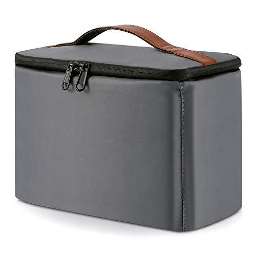 Peacechaos Men's Canvas Camera Bag Leather DSLR SLR Camera Case Vintage Camera Messenger Bag Shoulder Bag Sling Bag