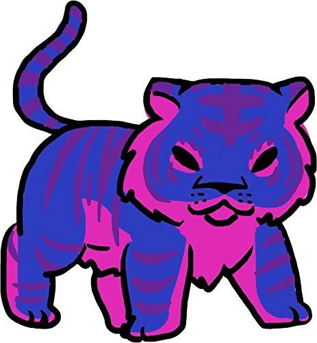 NGK Trading Bisexual Pride Tiger Vinyl Decal Bumper Sticker Wall Laptop Window Sticker 5'