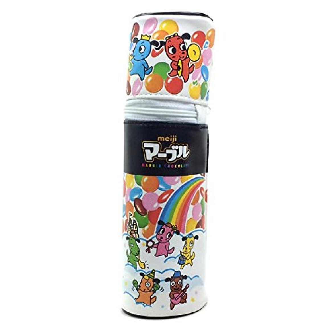 ホイスト検出する動揺させるおやつマーケット 筒型ペンポーチ 明治 マーブル 40222701 ペンケース/筆入れ サカモト/sakamoto