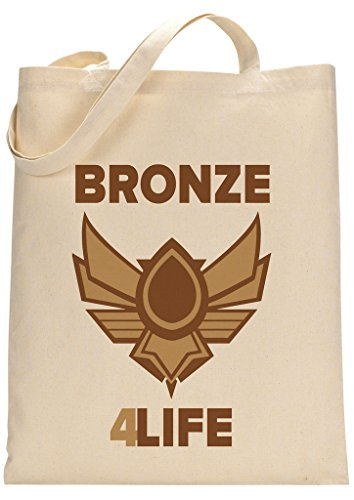 Gamer Quote Bronze 4 Life Funny Custom Made Tote Bag