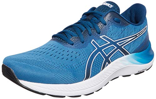Asics Gel-Excite 8, Road Running Shoe Hombre, Reborn Blue/White, 43.5 EU