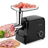 Elektrischer Fleischwolf Wurstfüller Fleischhackfleisch 2000 W 5in1: für Fleisch, Kebbe, Gemüse, Salat, Spritzgebäck | Vor-und Rücklauf | 2 Leistungsstufen