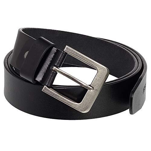 Ledershop24 Geschenkset - Ledergürtel Herren & Damen Gürtel Echt-Leder - klassischer Leder-Gürtel Breite 40 mm Farbe Schwarz 110 cm Bundweite = 120 cm Gesamtlänge