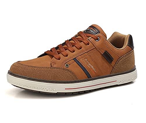 ARRIGO BELLO Zapatos Hombre Vestir Casual Zapatillas Deportivas Transpirables Sneaker Caminar Correr Cómodo Casuales Moda Negocio Talla 41-46 (A Marrón, Numeric_43)