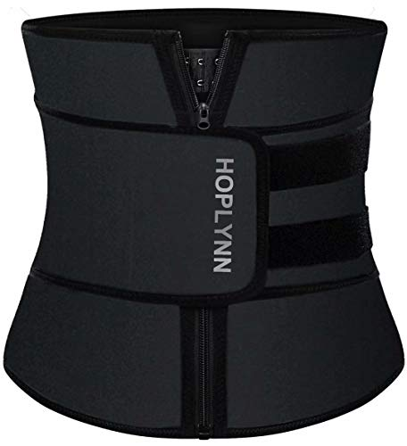 HOPLYNN Neoprene Sweat Waist Trainer Corset Trimmer Belt for...