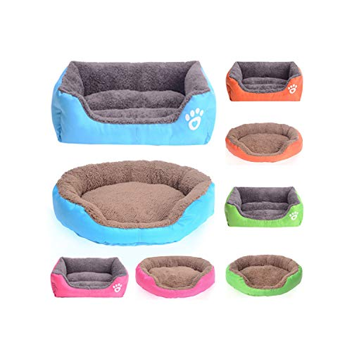 ZZmeet Candy Kleuren Huisdier Hond Bed Sofa Waterdichte Bodem Zacht Fleece Warm Hond Bed Huis Winter Warm Hond Kennel Plus Grootte, Wijn rood, XL, Size, een_kleur