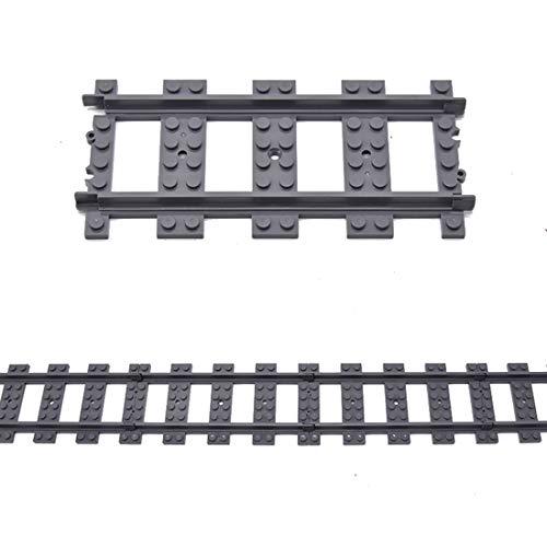 YOU339 Rieles rectos para tren Lego, 100 unidades