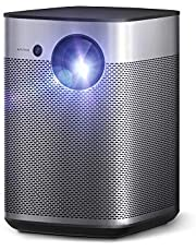 Short Throw Projector, XGIMI Halo True 1080p Portable Projector, 800 ANSI Lumen, Harman Kardon Speakers, Outdoor Projector with WiFi and Bluetooth, Auto Focus, Auto Keystone Correction, Android TV 9.0