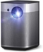 XGIMI Halo Portable Mini Projector, True 800 ANSI Lumen 1080p FHD, Harman Kardon Speakers, Auto Focus with Keystone Correction, HDR10, Android TV 9.0, Outdoor Projector with WiFi Bluetooth
