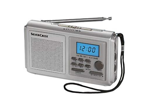 Silvercrest WE2300 receptor mundial Radio reloj despertador. 8 bandas de recepción.