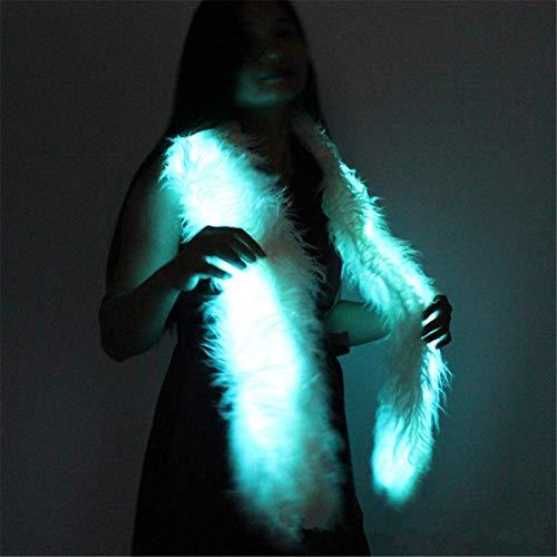 VVXXMOLed Schal Light Up Boa Glow Up Flashing Fun Neuheit Schals Für Rave Zubehör Kleidung Outfit Burning Man Kostüm Festival Party