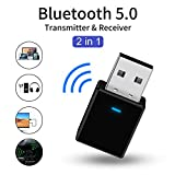 TIJA Adaptateur Bluetooth 5.0 Dongle USB,Dongle USB Bluetooth Hi-FI,Adaptateur Bluetooth 3,5mm...