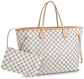 Generic White Colour Tote Bag with Pouch in Canvas Leather For Women and Girls